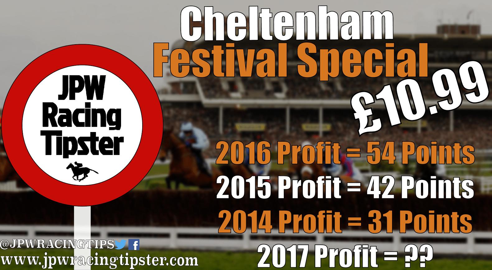 JPW Racing Tipster - Cheltenham 2017